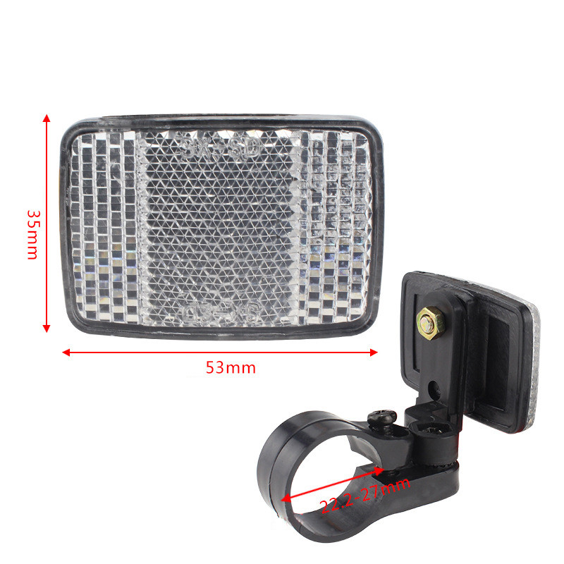 Handlebar Mount Safe Reflector Bicycle Bike Front Rear Warning Red White New