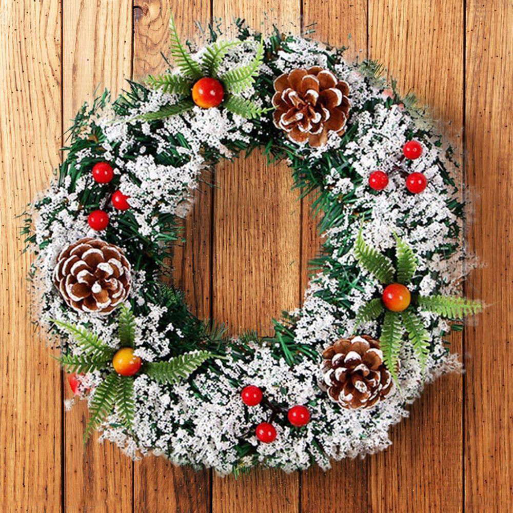 Christmas Wreath For Xmas Home Party Door Wall Flower Garland Decoration Hook