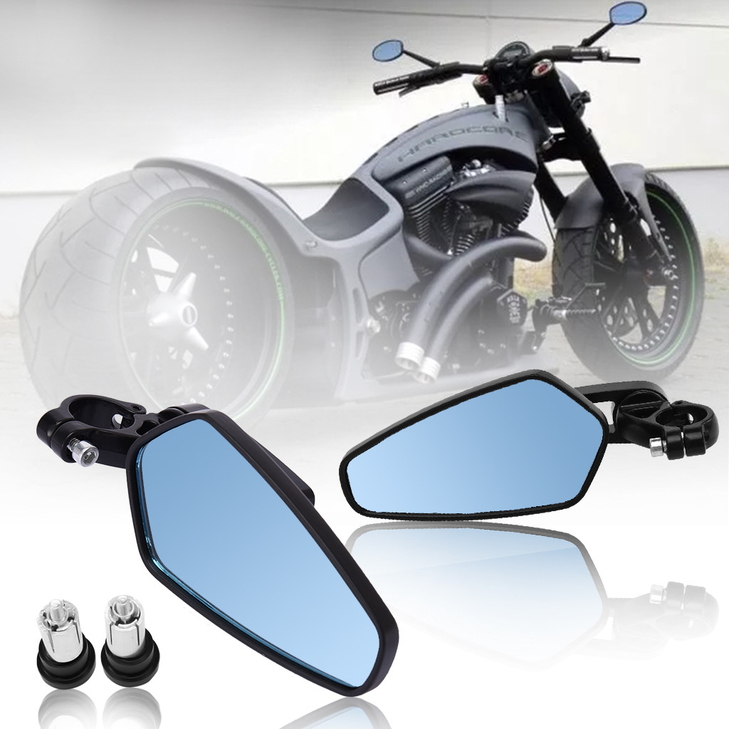 Motorcycle Black 7/8 inch Handle Bar End Side Mirrors For Yamaha FZ-09 FZ-07