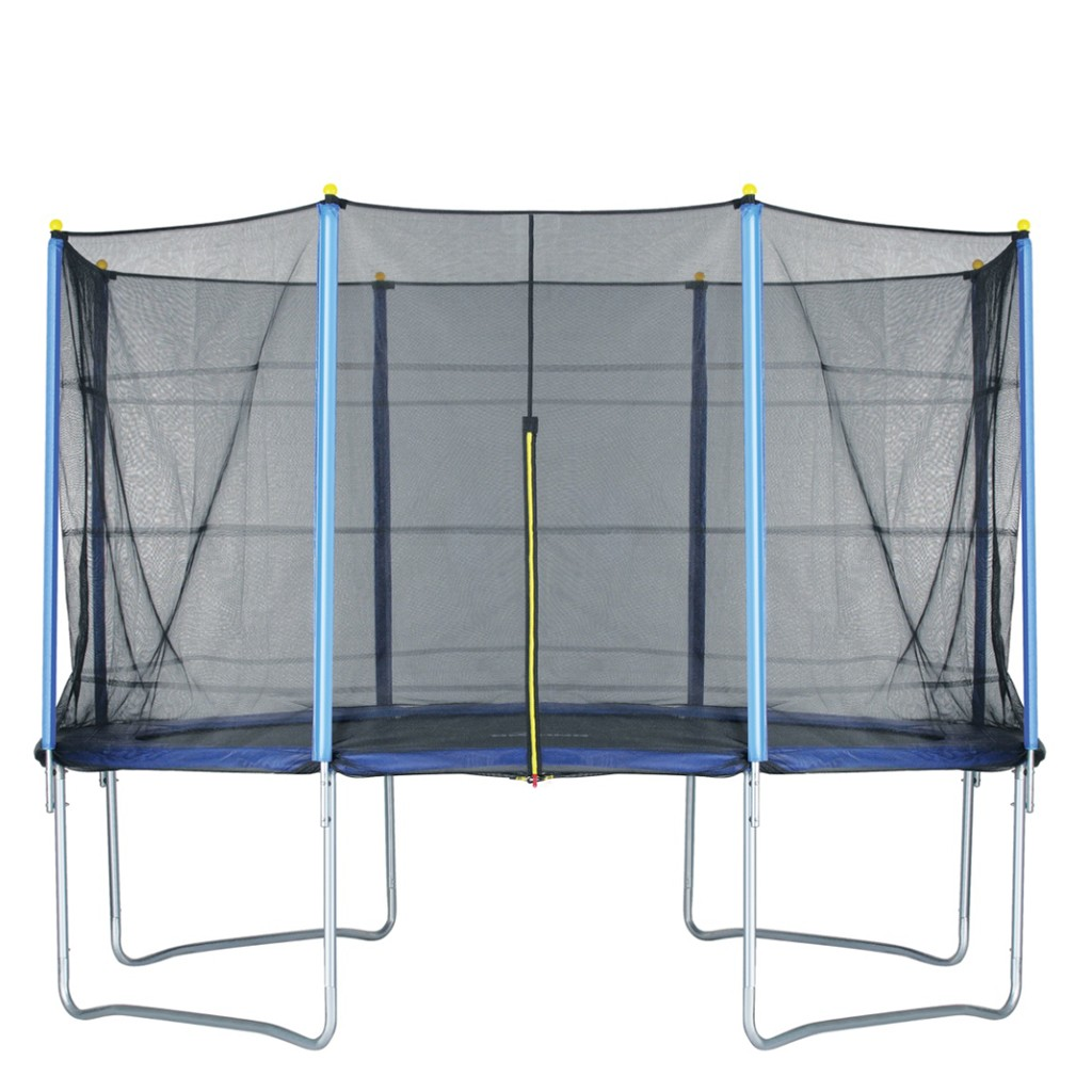 14 FT Kids Trampoline With Enclosure Net Jumping Mat And Spring Cover Padding