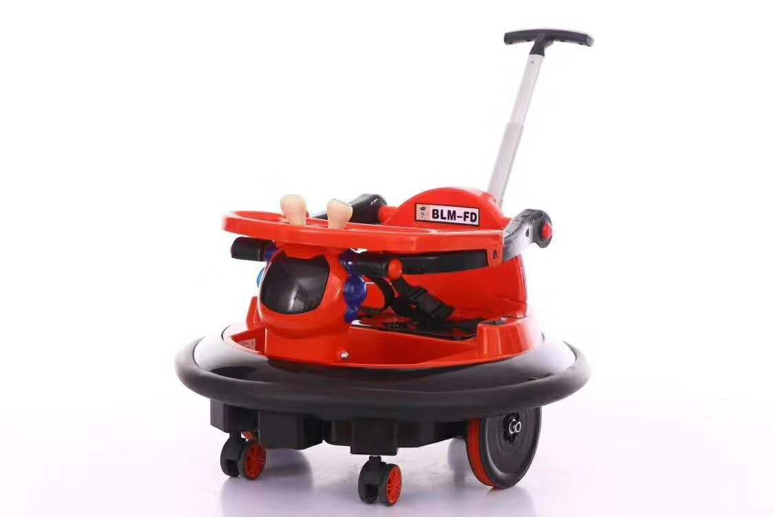 R ide On Bumper Car Toy For Toddlers Aged 1.5   6V Battery-Powered with Light
