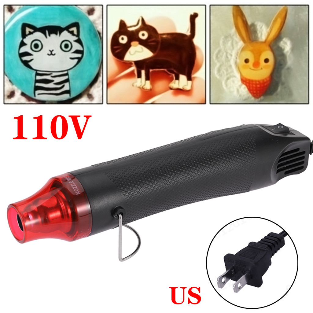 110V 300W  Diy Using Heat G un Electric Tool Shrink Plastic Surface US Plug