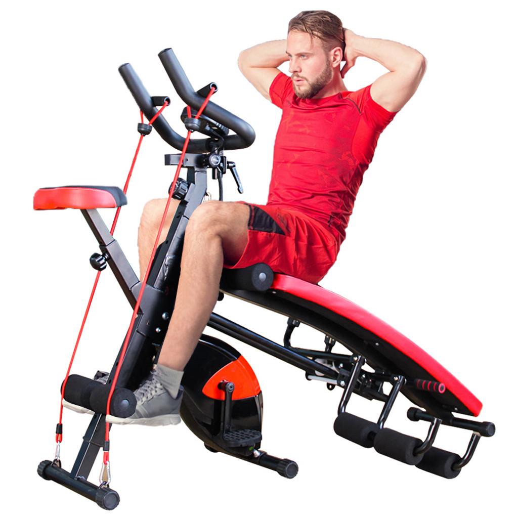 Combination Fitness Machine Indoor Cycling Bike Abdominal Trainers Push Ups