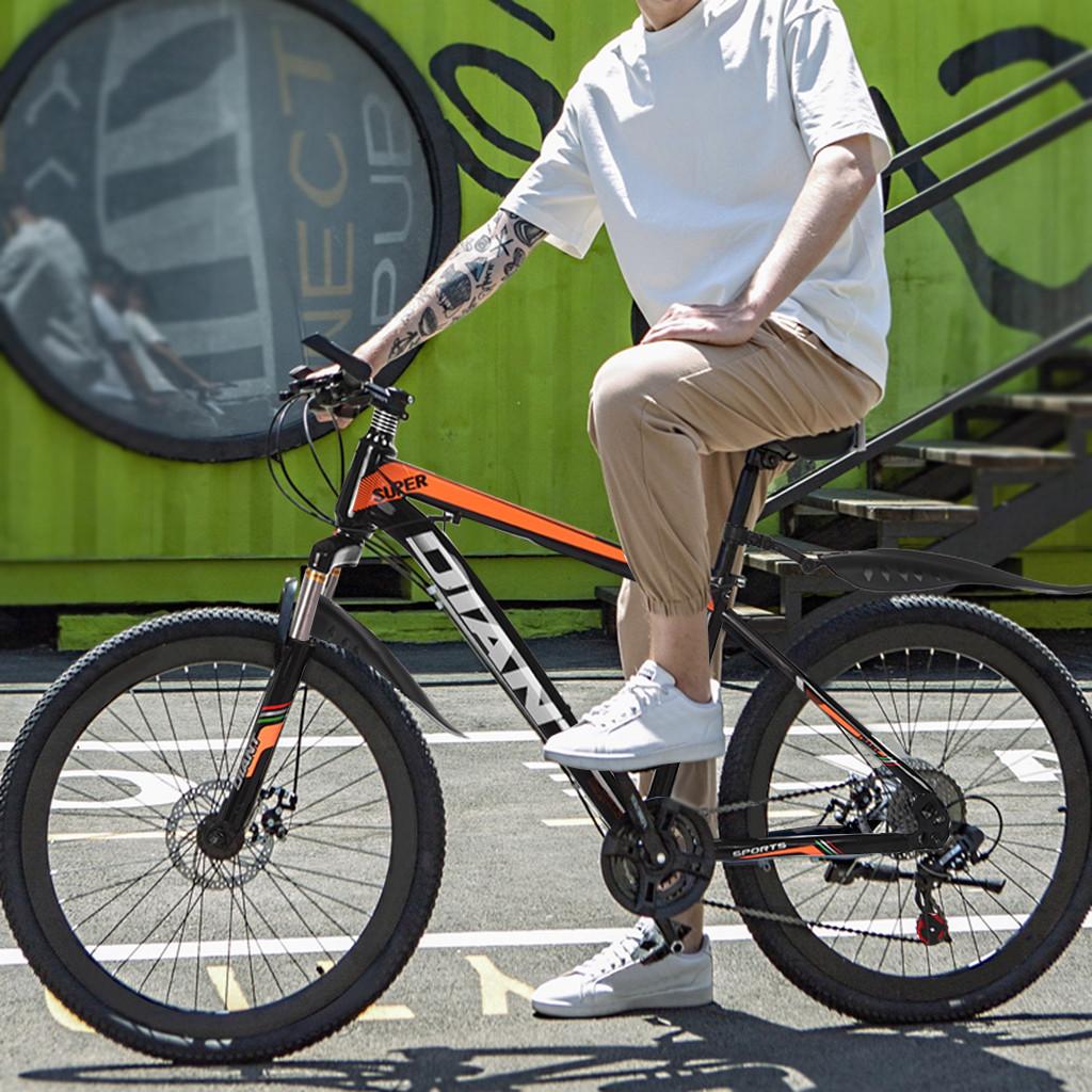 26in Bicycle 21 Speed Carbon Steel Mountain Bike Full Suspension MTB