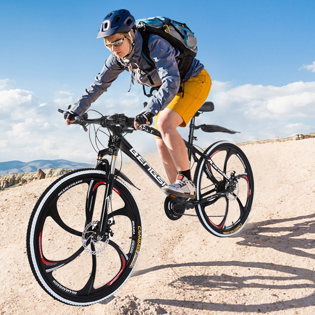 Outroad Mountain Bike  21 Speed 26in  Bike Double Disc Brake  Bicycles