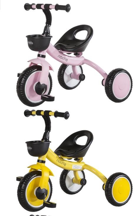 Kids 3-Wheel Ride-On Toddler Tricycle With Storage Basket Steel Frame 2-5 Age