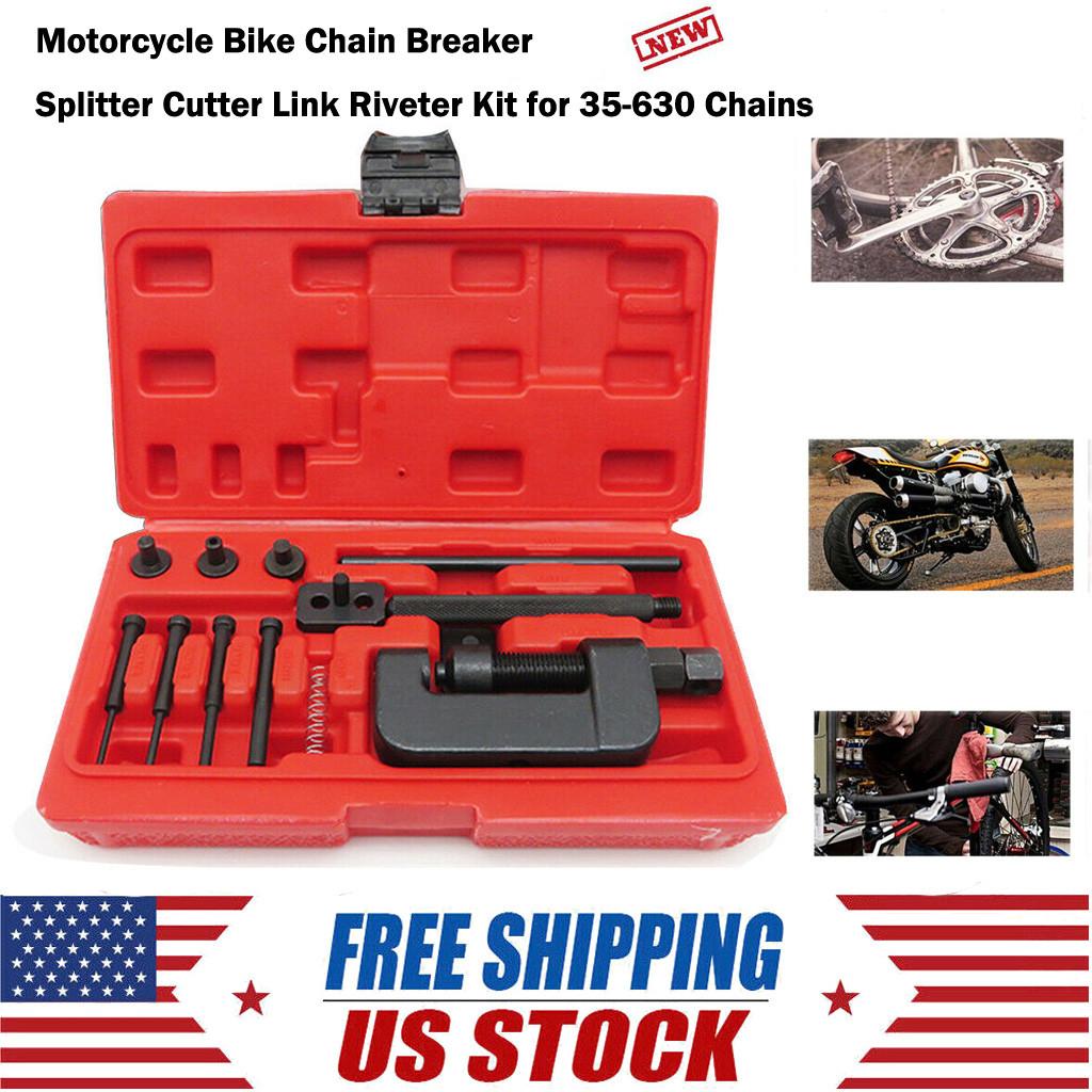 Motorcycle Bike Chain Breaker Splitter Link Riveter Universal Set Riveting Tool