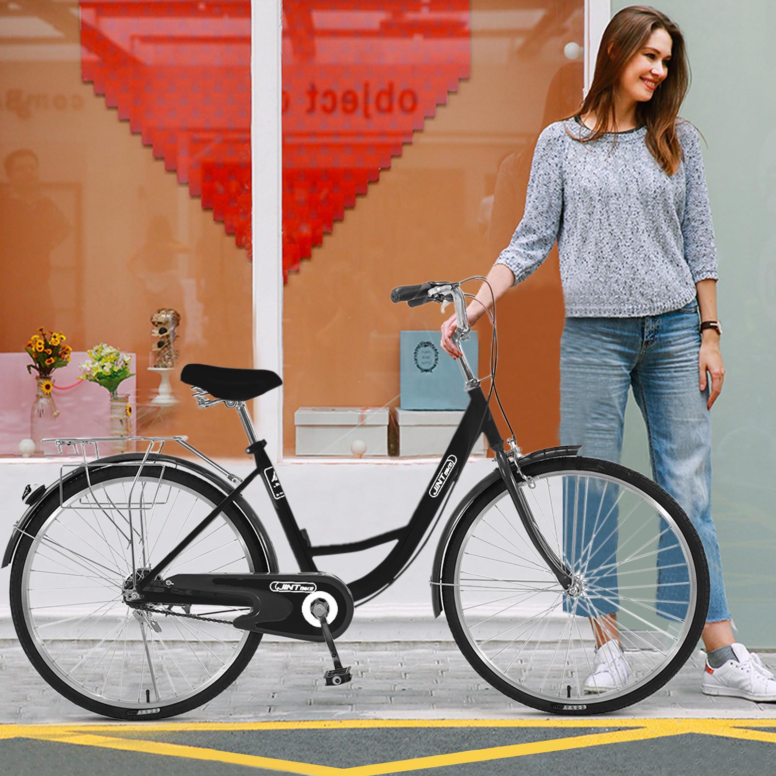 26 Inch Single Speed Bicycle Womens Comfort Bikes Beach Cruiser Bike Comfortabl