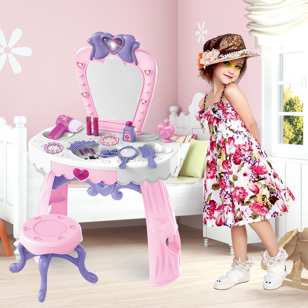 Fantas y Vanity Beauty Dresser Table With Fashion & Makeup Accessories For Girls