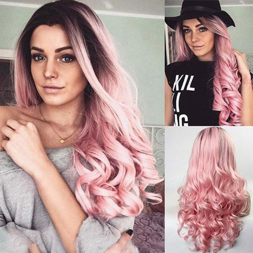 Summer Colorful Wig High Temperature Silk Rose Mesh Breathable And Comfortable