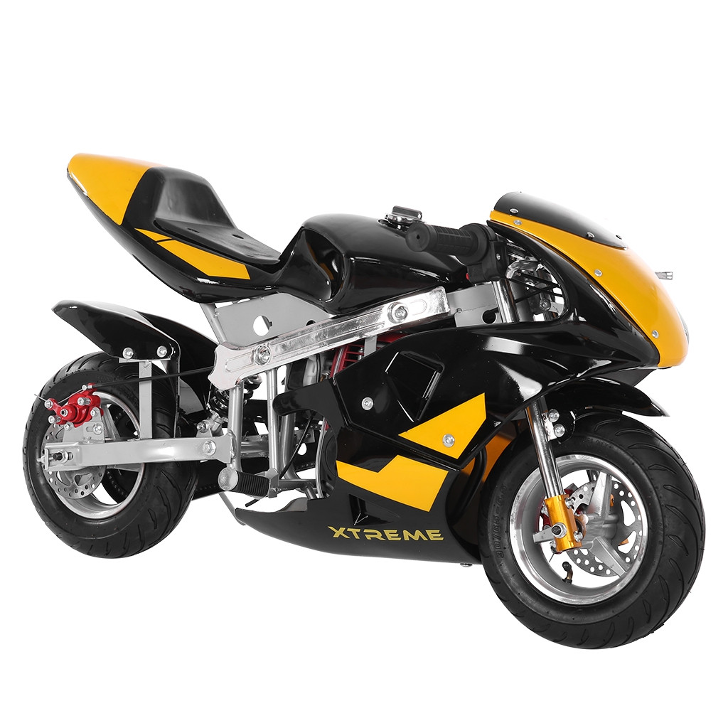 Mini Gas Power Pocket Bike Motorcycle 49cc 4-Stroke Engine For Kids And Teens US