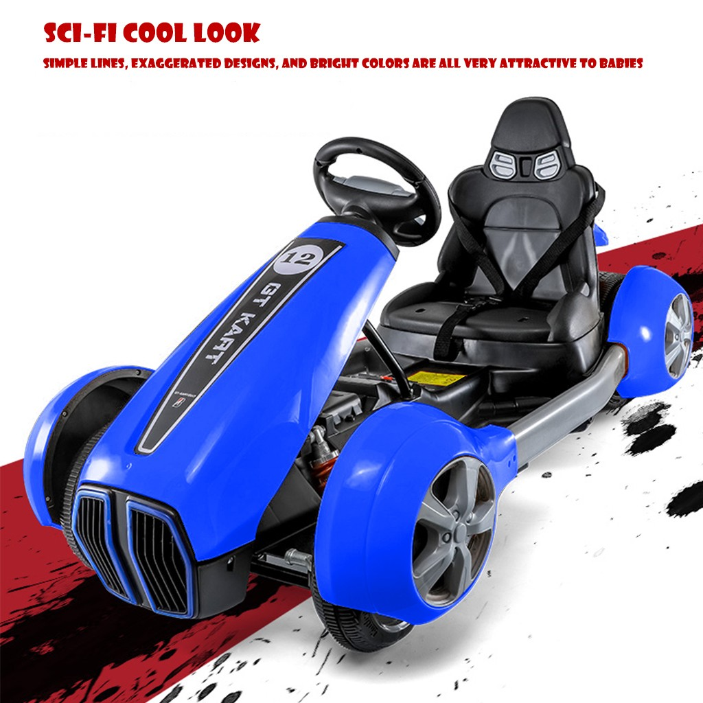 Electric 12V Double Drive Motor Go Kart For Boys And Girls Race Car Drifting