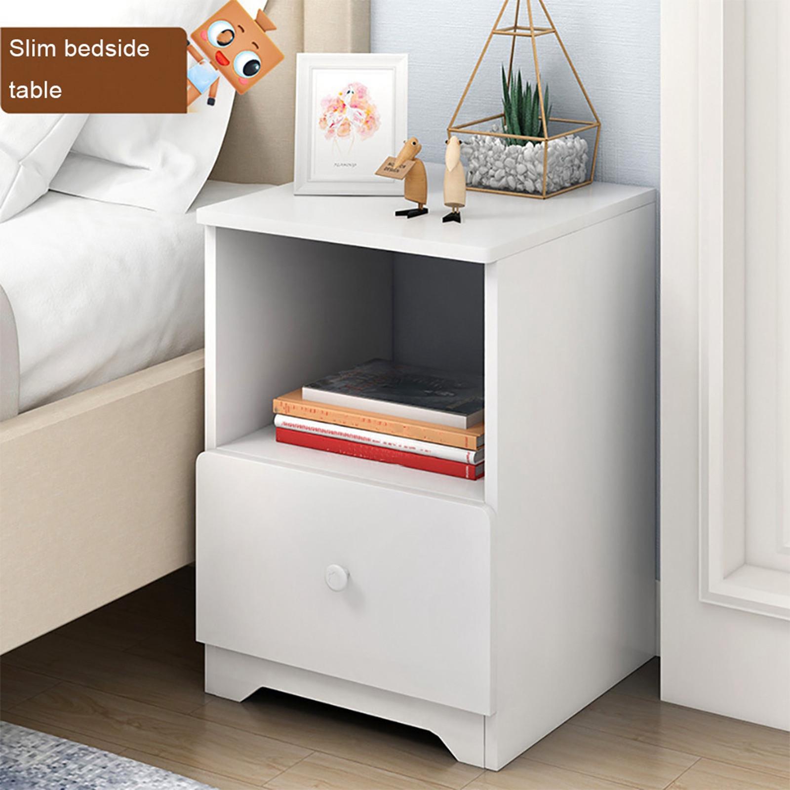 Storage Cabinet Bedroom Bedside Locker Double Single Nightstand
