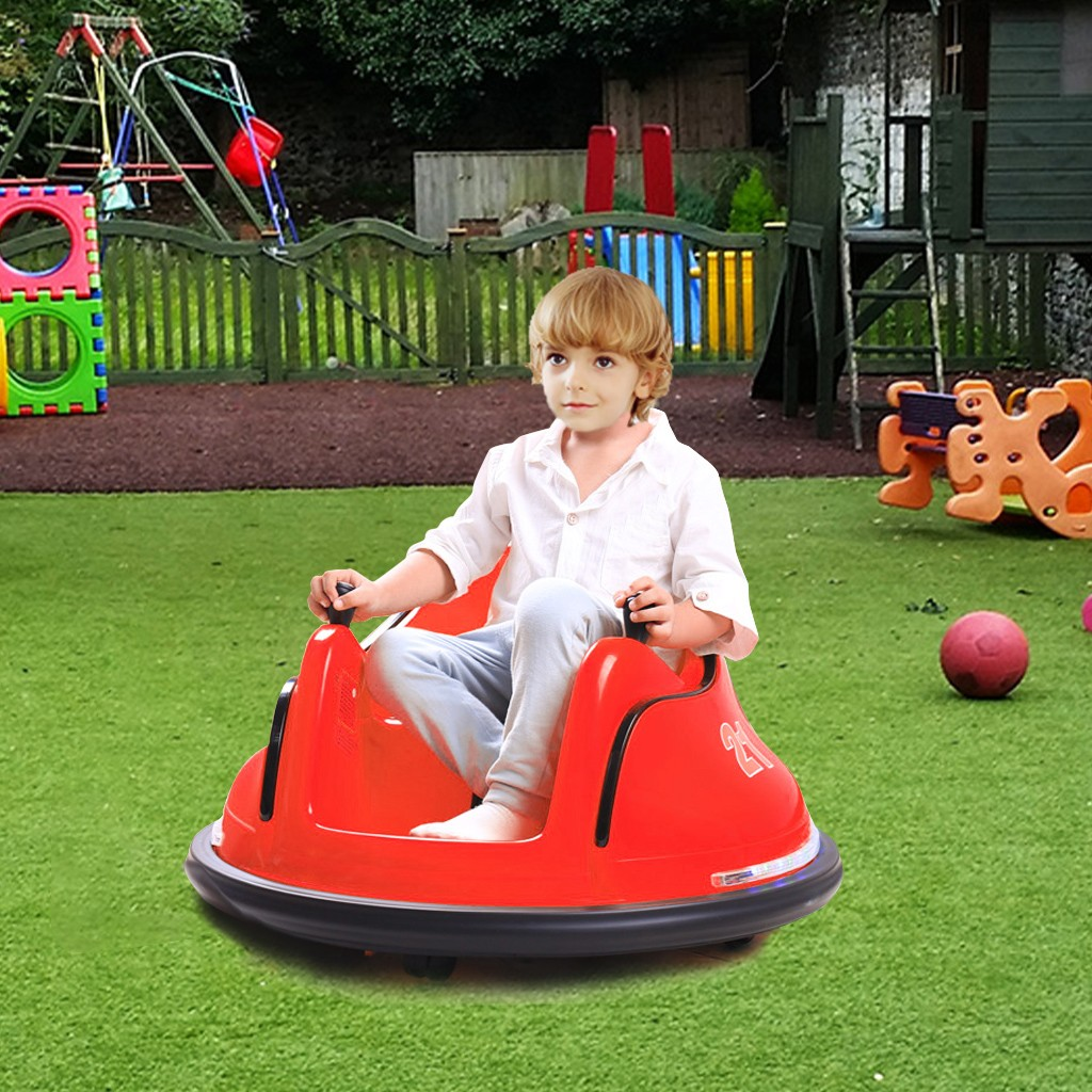Ride  On Bumper Car Toy For Toddlers Aged 1.5   6V Battery-Powered With Light