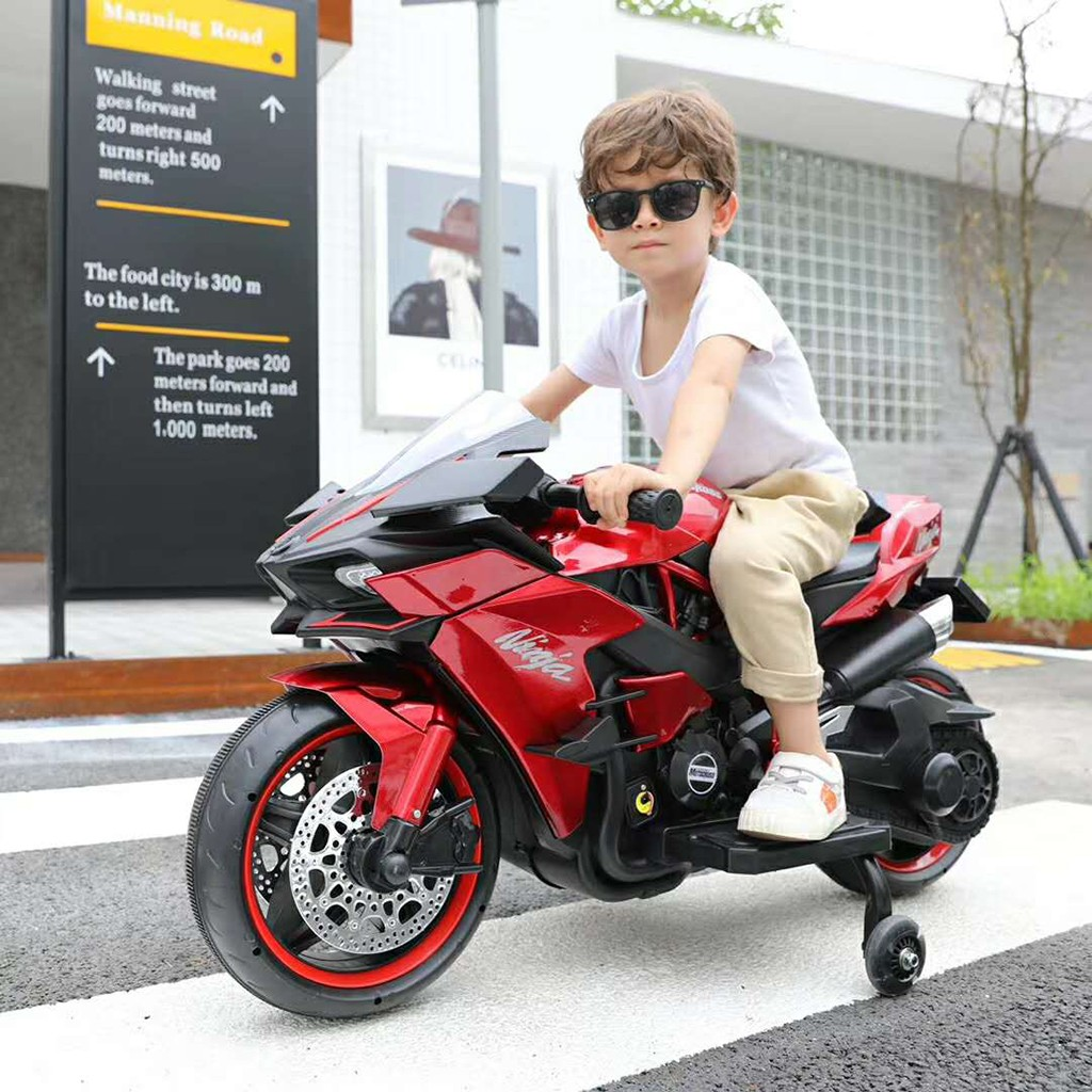 12V 7A Electric Children Riding Toy, Electric Motorcycle With Flashing Wheels