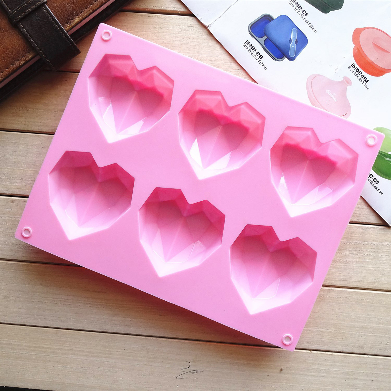 Heart-shaped Sphere Silicone Cake Mold Muffin Chocolate Cookie Baking Mould Pan